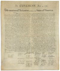 DECLARATION OF INDEPENDENCE –