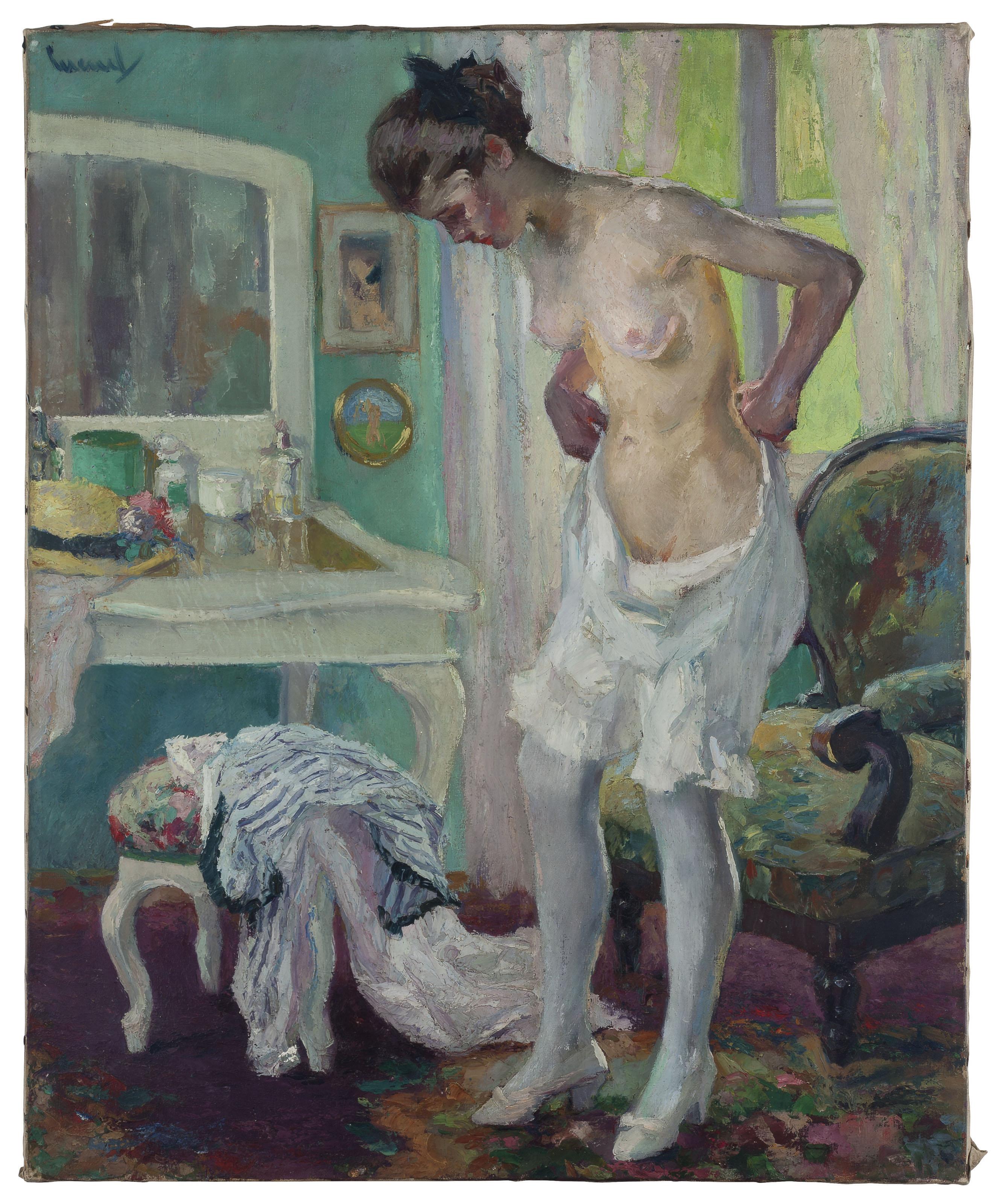 Mädchen beim Ankleiden