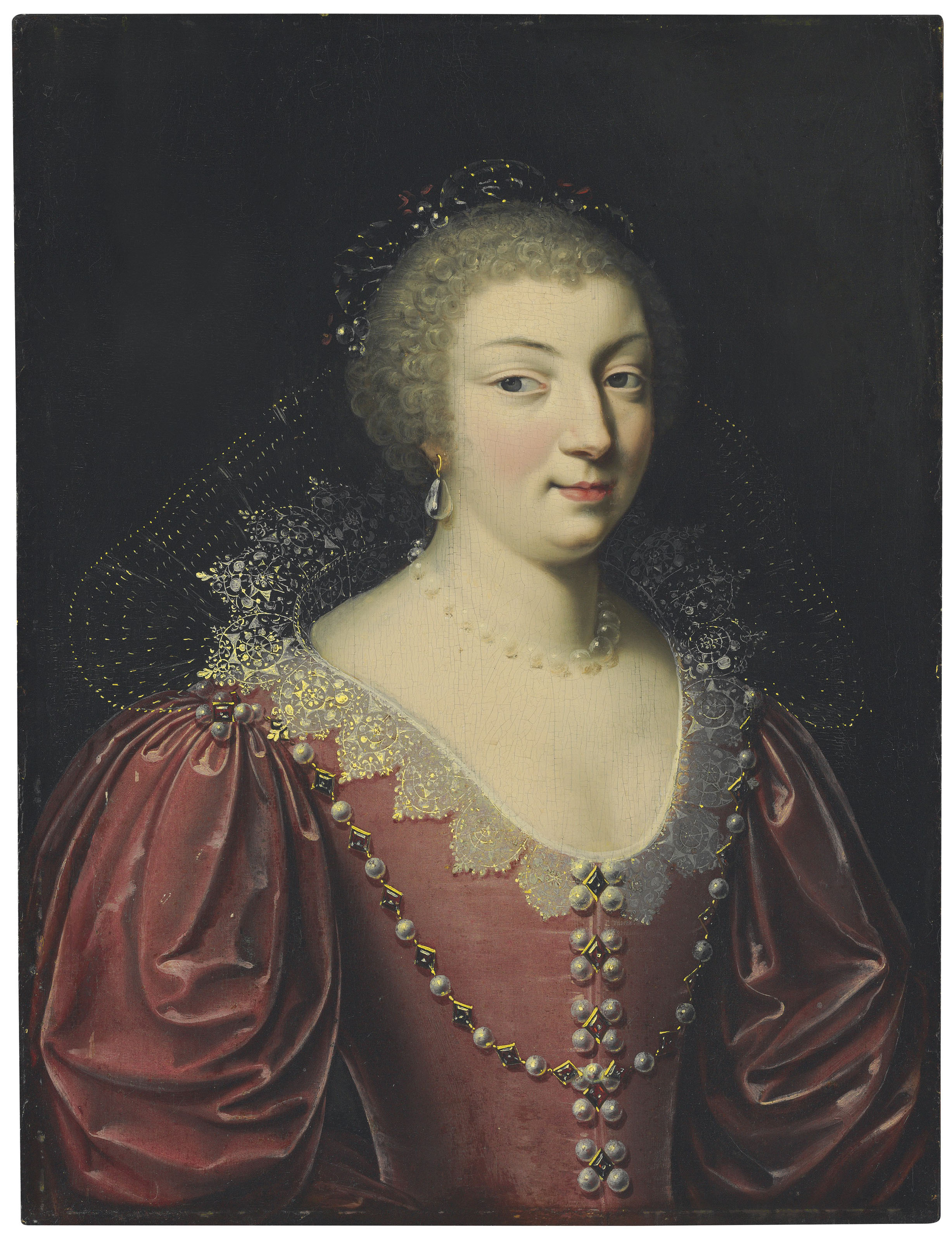 Portrait of a lady, traditionally identified as Marie de' Medici (1575-1642), Queen of France, half-length