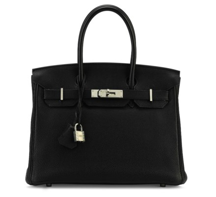A BLACK TOGO LEATHER BIRKIN 30 WITH PALLADIUM HARDWARE