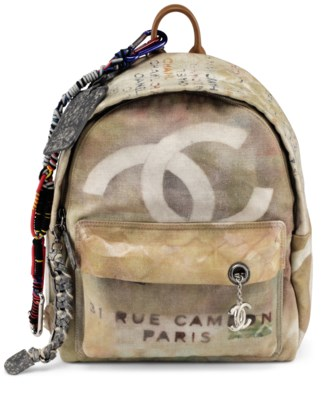 4728c9e4c295 A RUNWAY NATURAL & MULTICOLOR ÉTOILE CANVAS GRAFFITI BACKPACK WITH ANTIQUE  SILVER HARDWARE, CHANEL, SPRING/SUMMER 2014 | Christie's