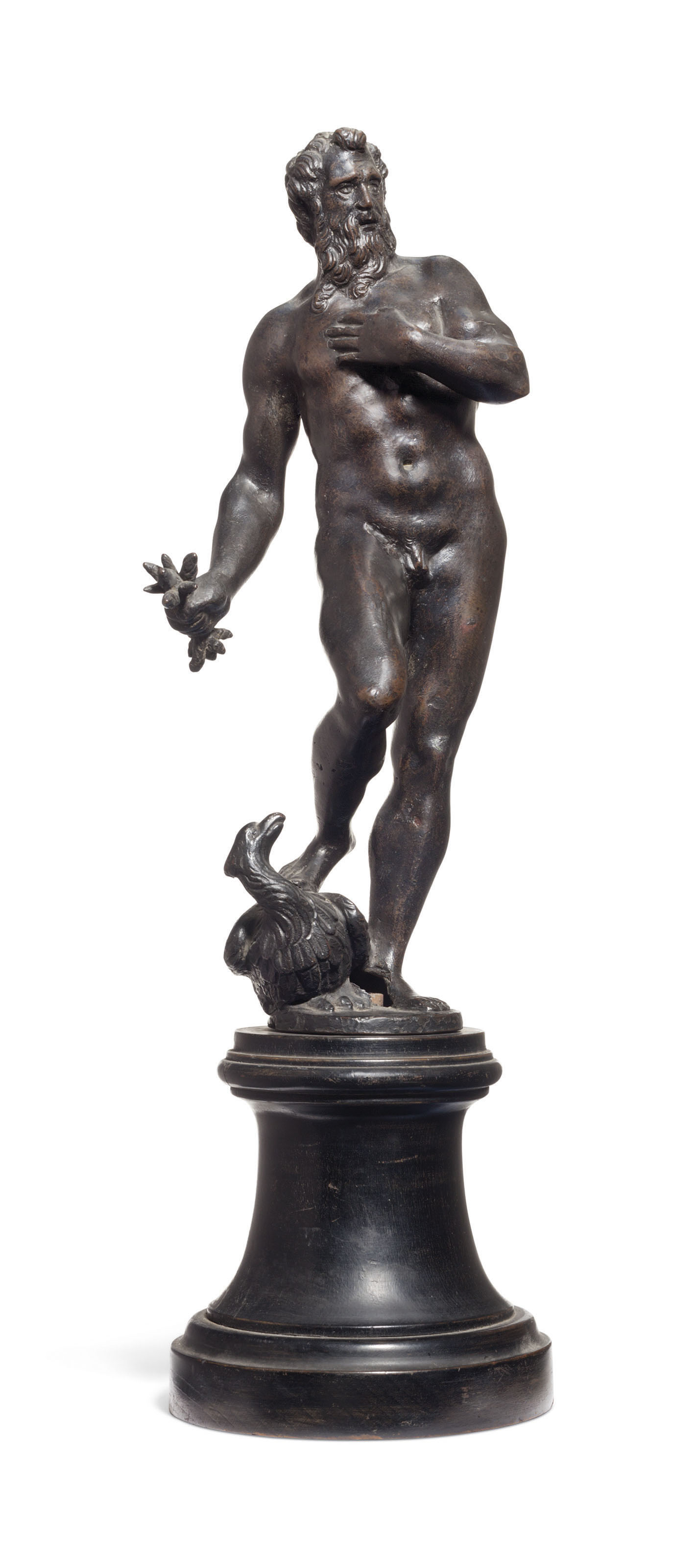 A BRONZE MODEL OF JUPITER