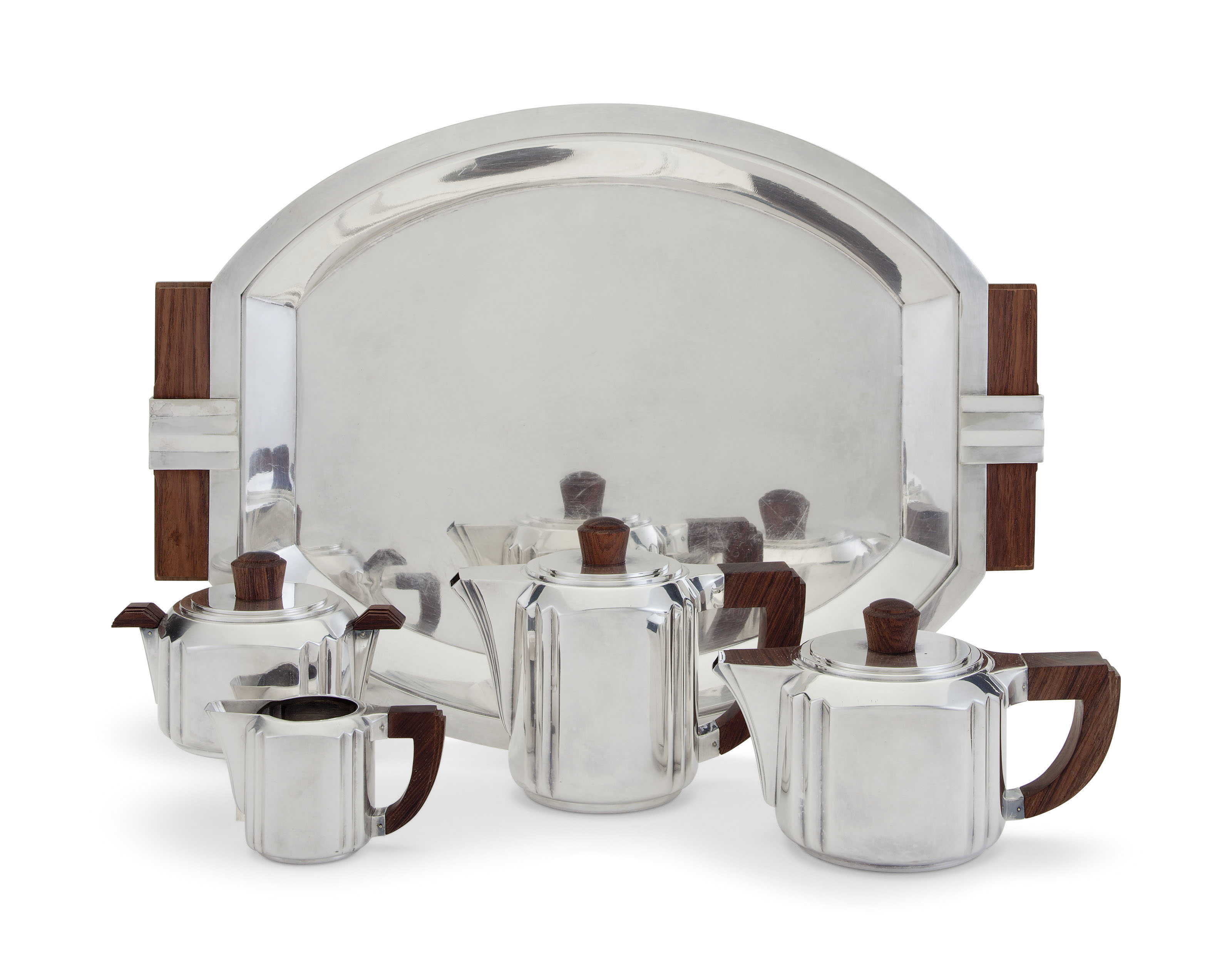 A FRENCH SILVER-PLATED FOUR-PI