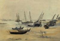 La plage à marée basse