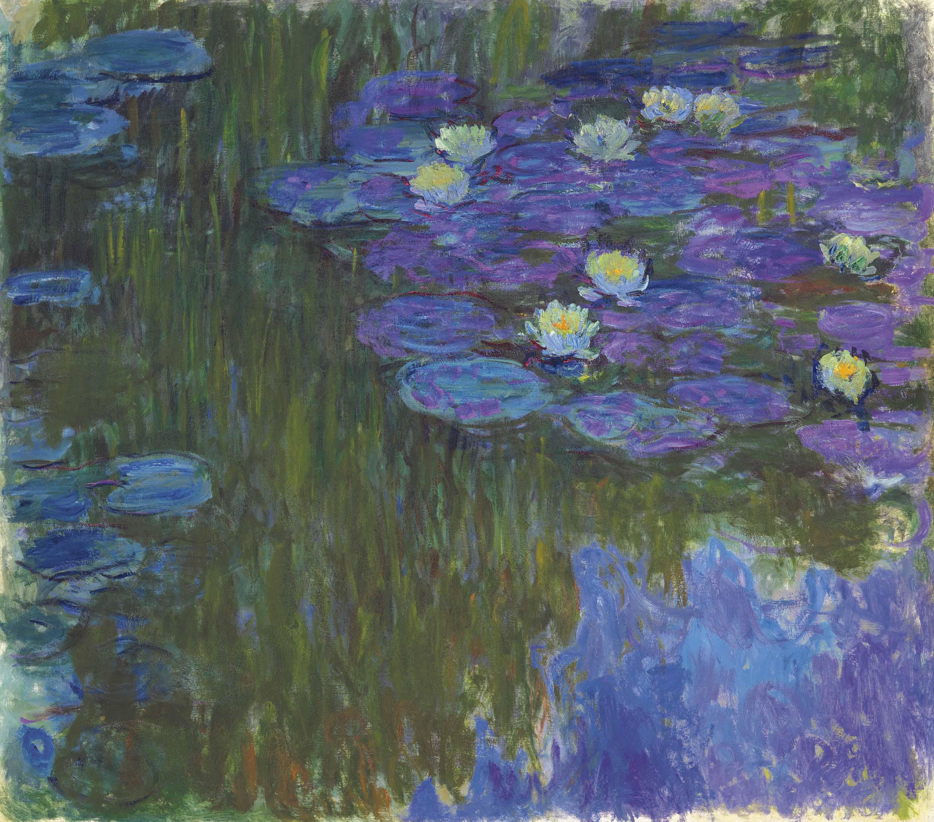 Monet: Claude Monet (1840-1926) , Nymphéas En Fleur