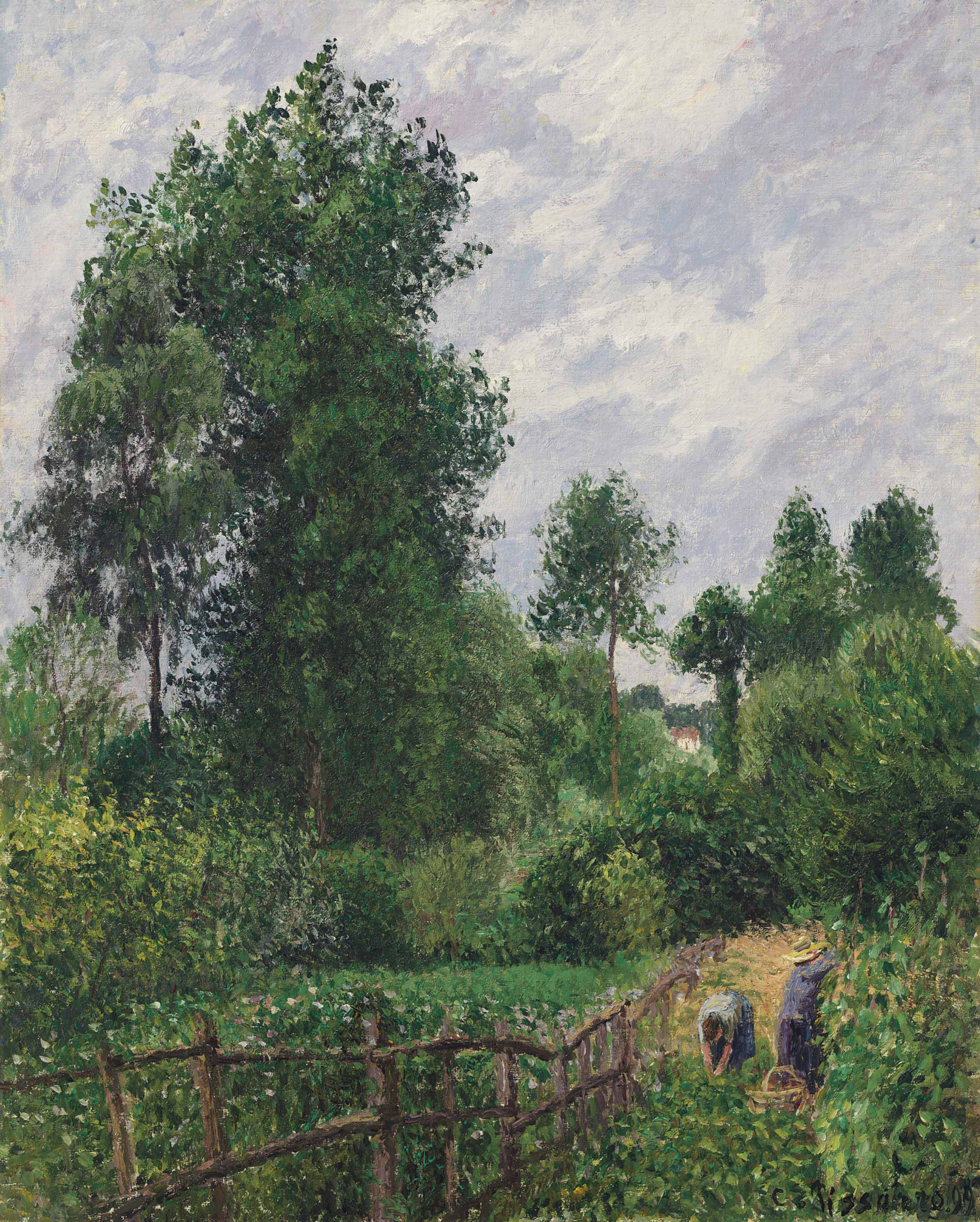 Camille pissarro 1830 1903 paysage avec peupliers for Camille pissarro oeuvre