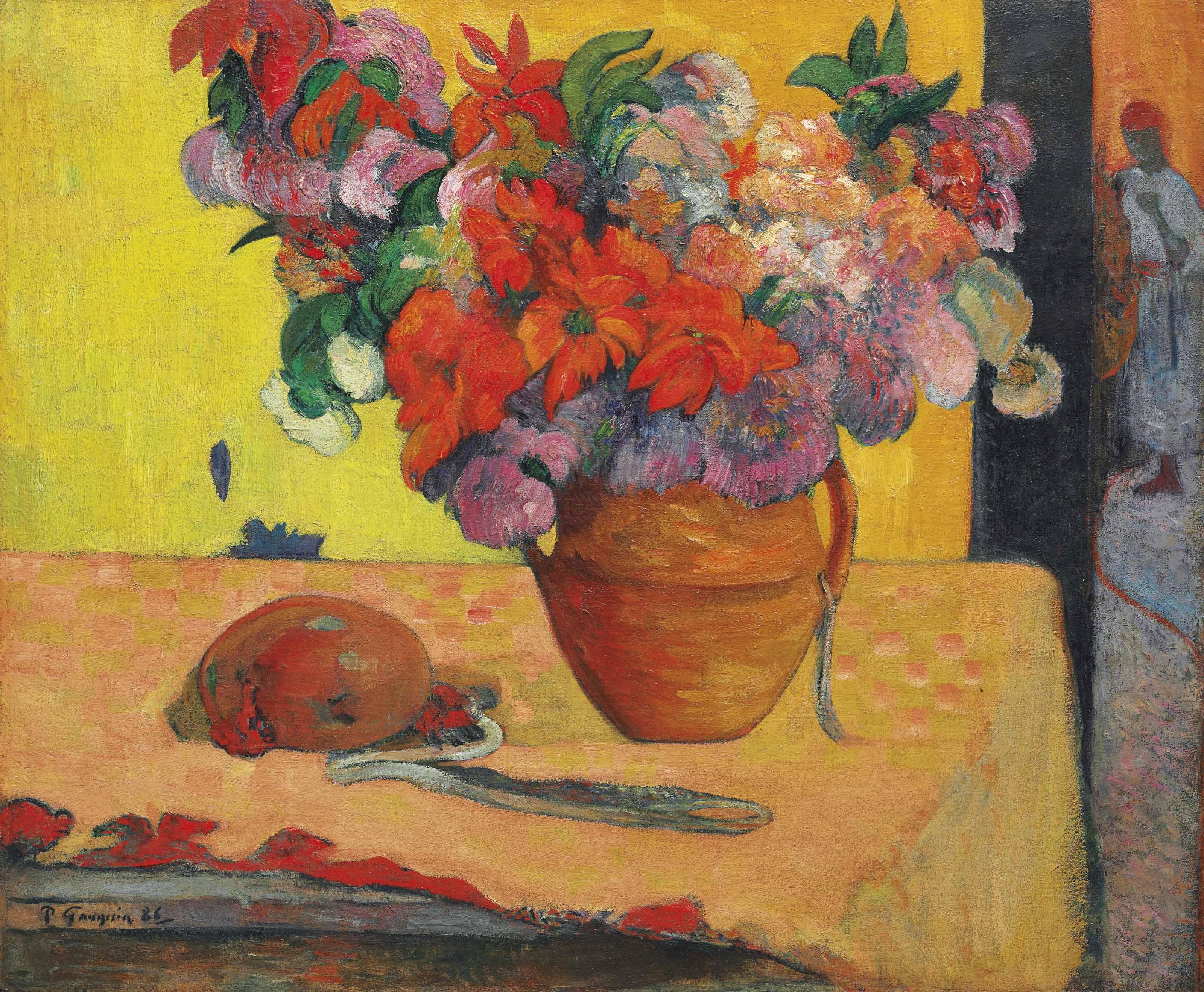 paul gauguin 1848 1903 fleurs dans un vase christie 39 s. Black Bedroom Furniture Sets. Home Design Ideas