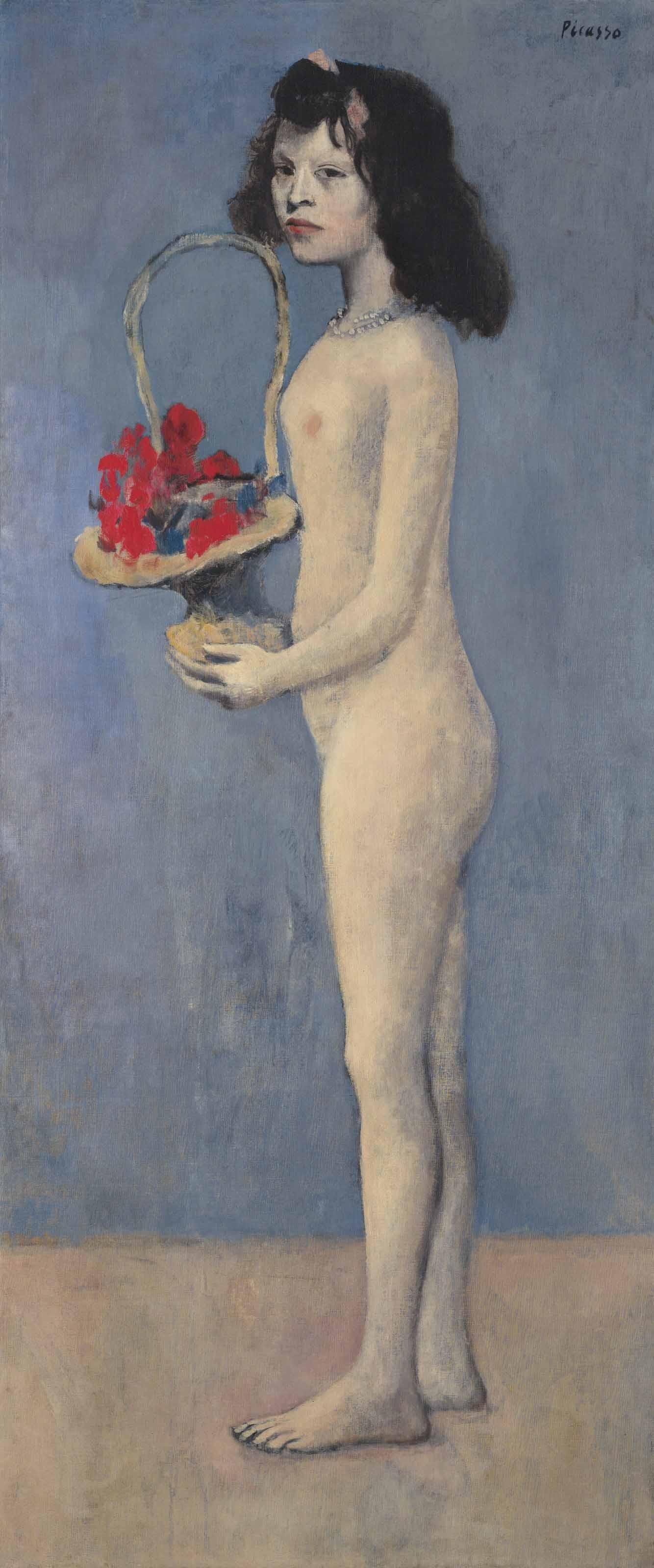Image result for Fillette à la corbeille fleurie picasso