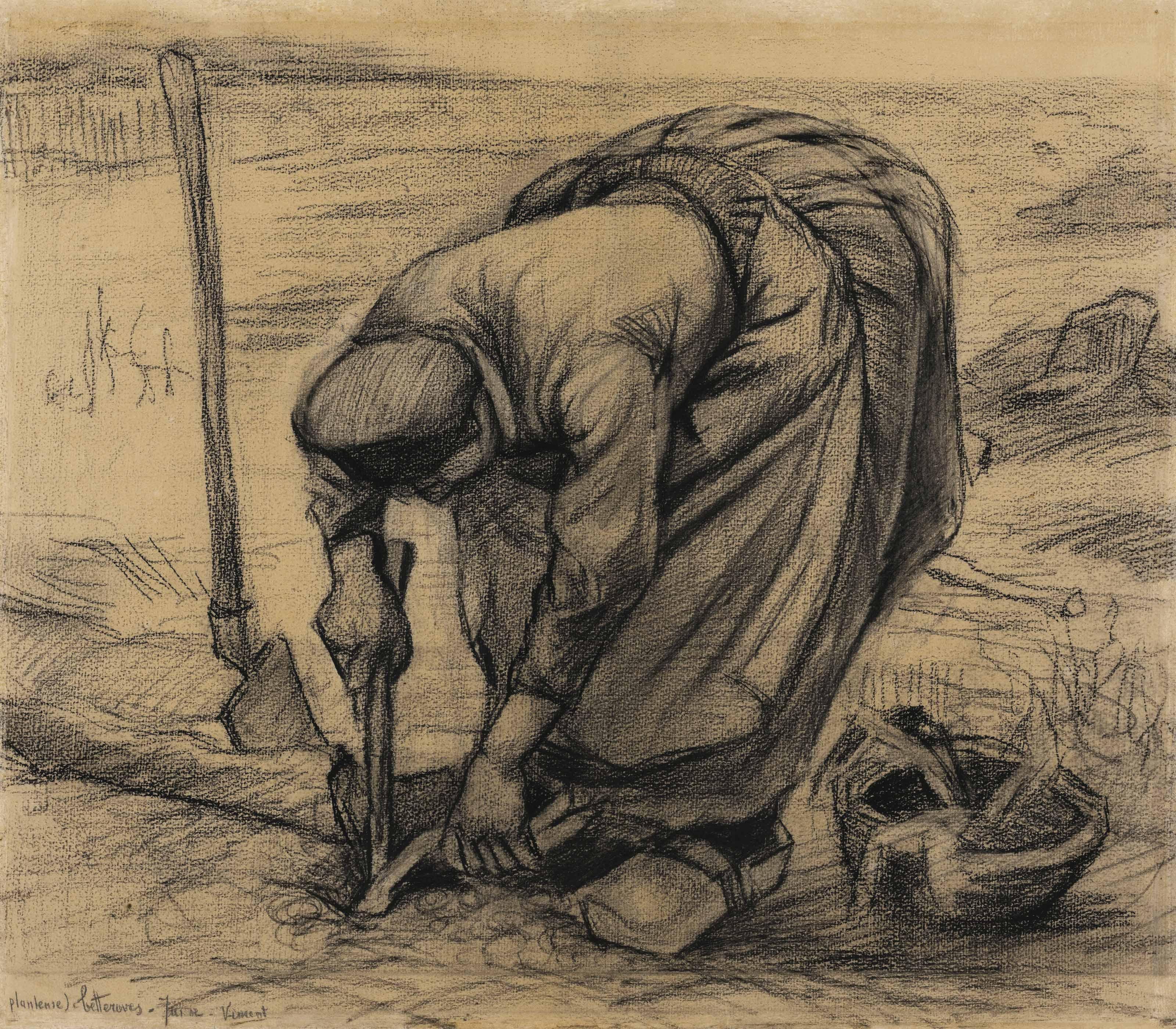 Vincent Van Gogh 1853 1890 Planteuse De Betteraves