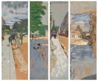 Les rues de Paris, panneaux pour Henry Bernstein: Première série, Passy