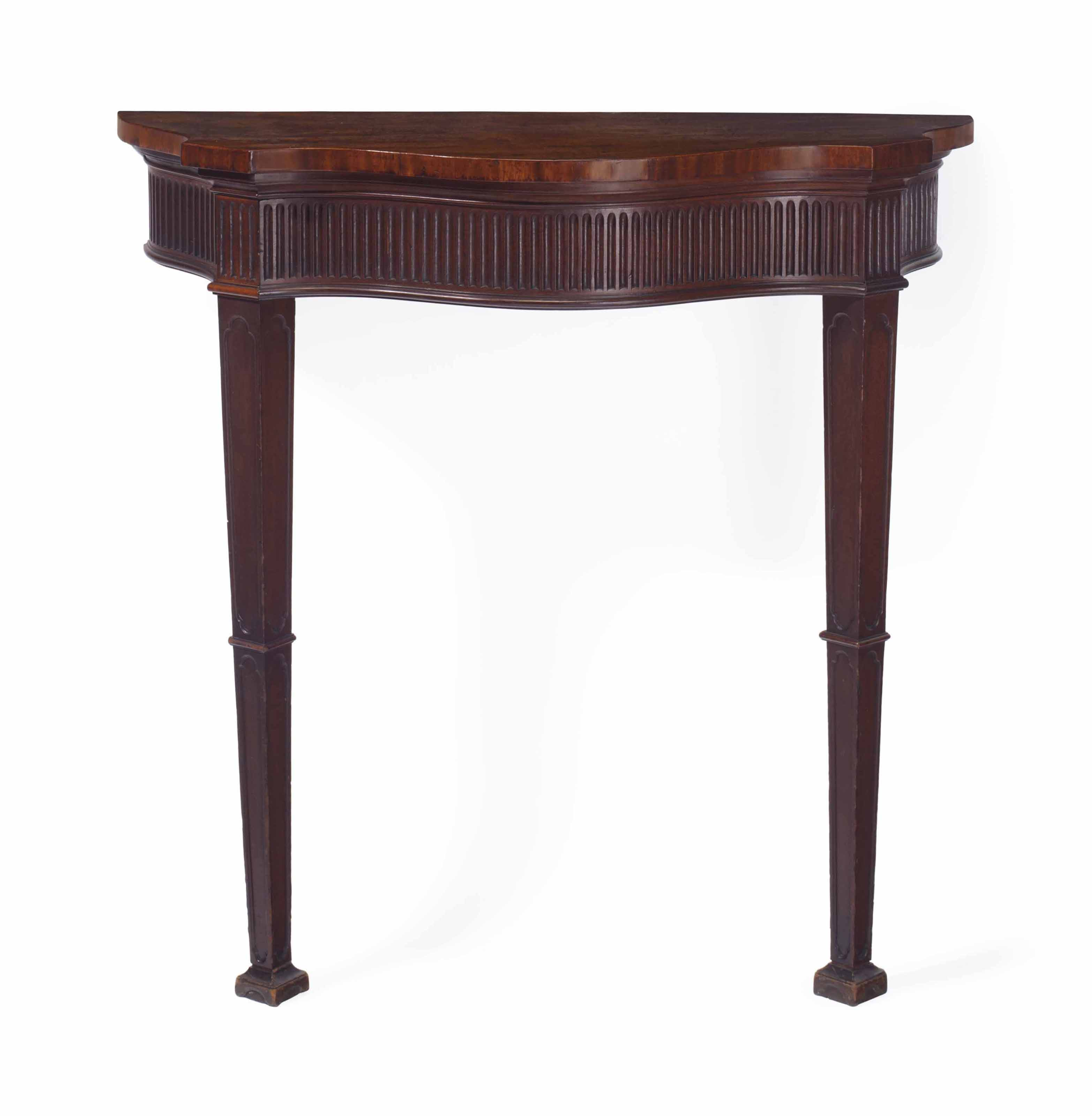 A George Iii Solid Mahogany Console Table Circa 1770 Reduced In