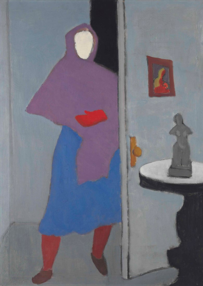 Milton Avery (1885-1965), Woman with Rebozo, 1947. 44 x 32  in (111.8 x 81.3  cm). Estimate $1,000,000-1,500,000. This lot is offered in The Collection of Peggy and David Rockefeller Art of the Americas, Evening Sale on 9 May at Christie's in New York © Milton Avery Trust  Artist Rights Society (ARS), New York