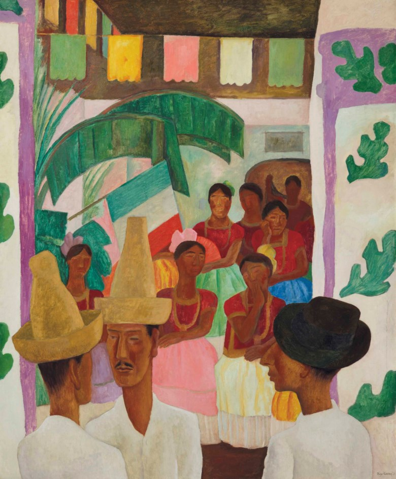 Diego Rivera (1886-1957), The Rivals, painted in 1931. 60 x 50  in (152.4 x 127  cm). Sold for $9,762,500 on 9 May 2018 at Christie's in New York. Artwork © Banco de México Diego Rivera Frida Kahlo Museums Trust, Mexico, D.F.  DACS 2018