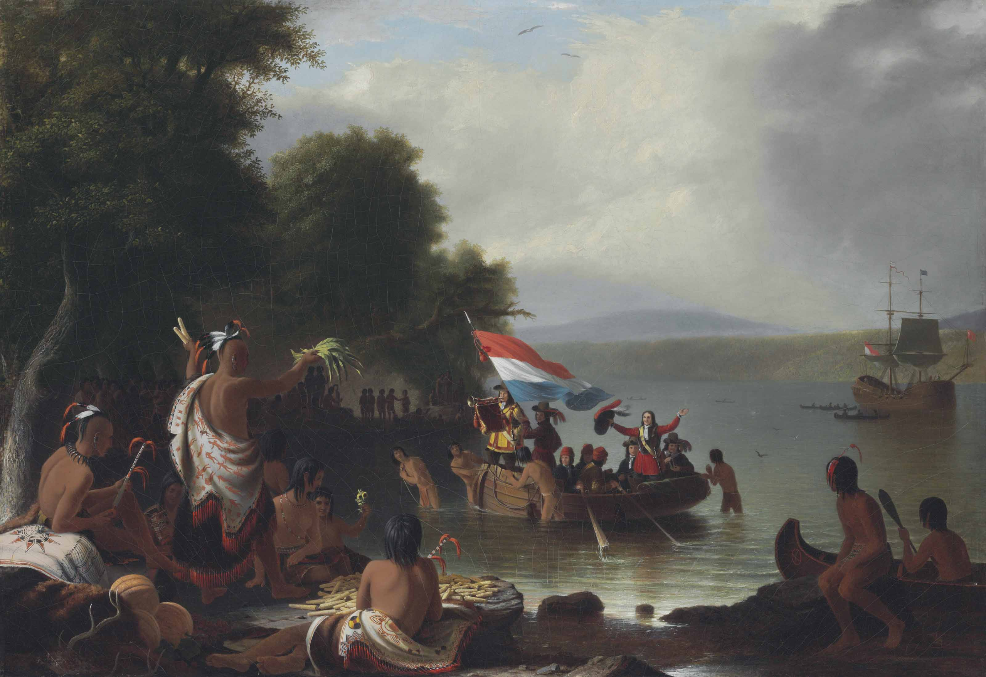 Landing of Henry Hudson, 1609, at Verplanck Point, New York