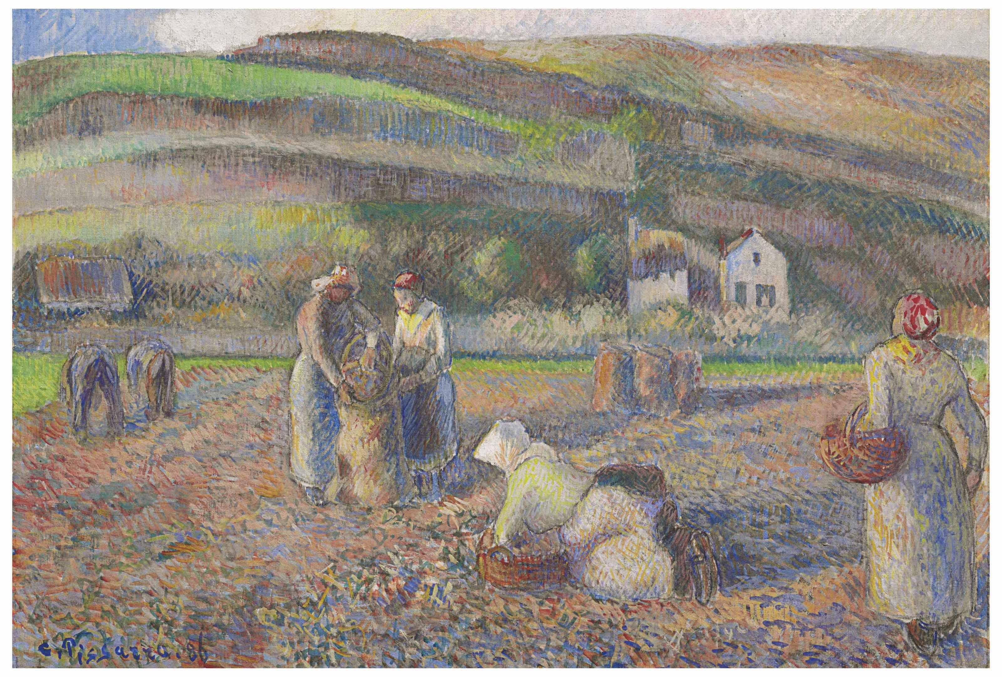 Camille pissarro 1830 1903 la r colte des pommes de terre christie 39 s - Recolte des pommes de terre ...