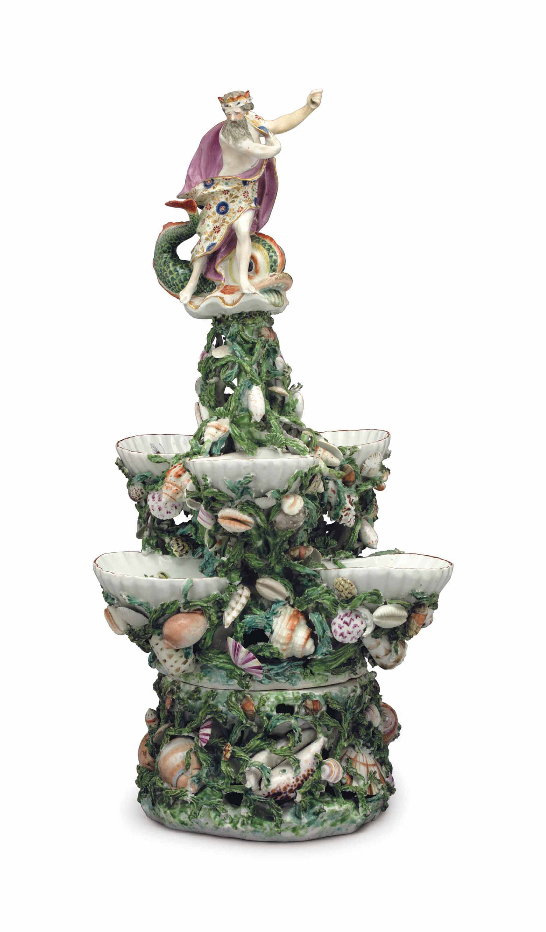 A DERBY PORCELAIN MYTHOLOGICAL CENTERPIECE AND STAND
