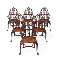 A SET OF SIX GEORGE III YEW AN
