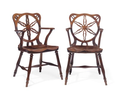 A PAIR OF GEORGE III WALNUT AN