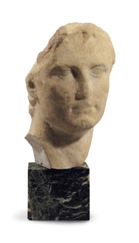 A ROMAN MARBLE PORTRAIT HEAD OF THE EMPEROR AUGUSTUS