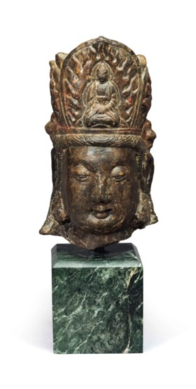 A STONE HEAD OF GUANYIN