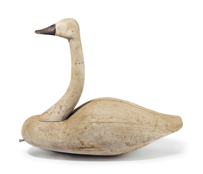 David Rockefeller's collection of duck decoys was a huge draw for collectors and this Whistling Swan by John Haynes Williams (1857-1937), Cedar Island, Virginia, circa 1910 sold for $348,500