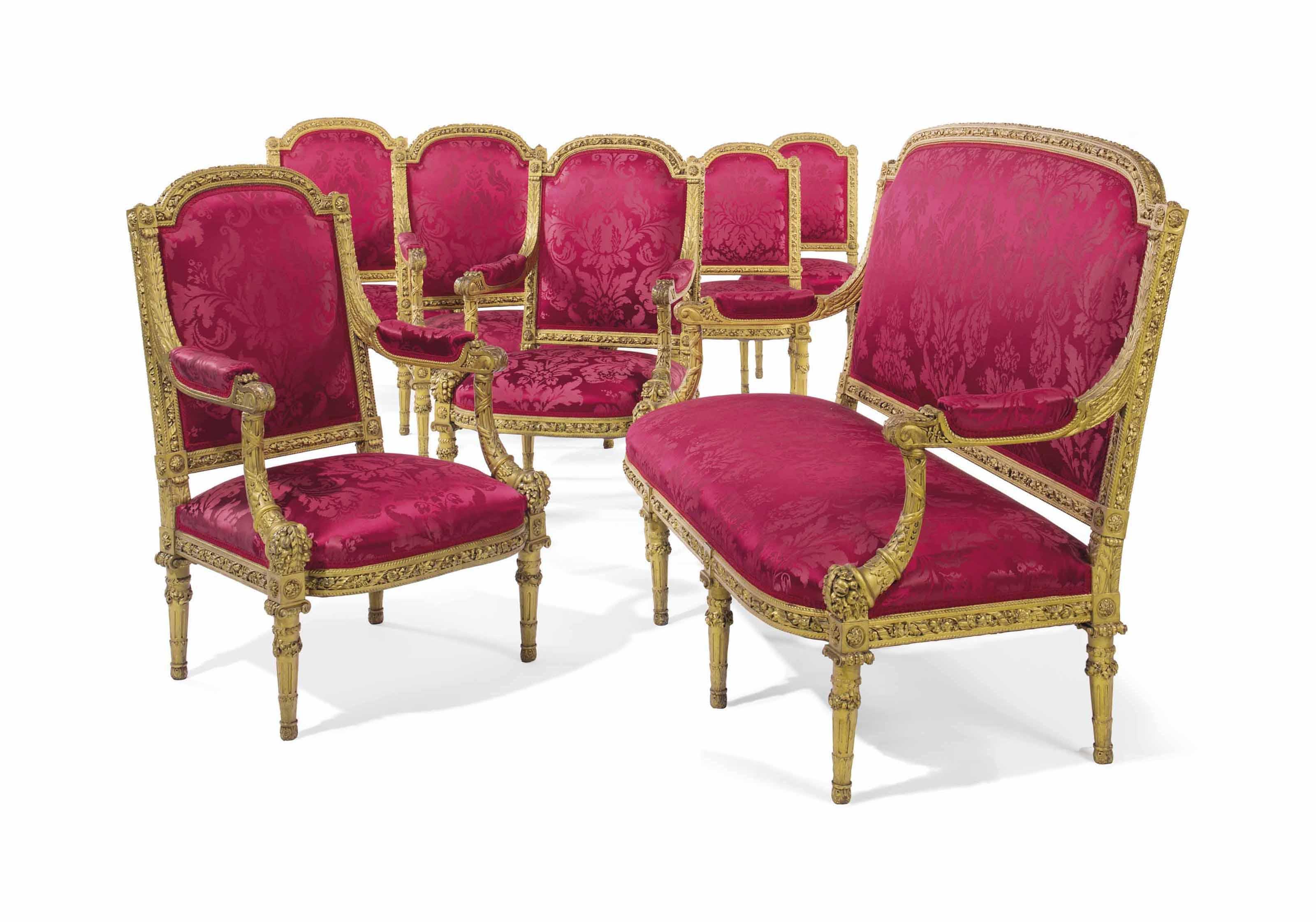 Salon Style New Yorkais a french giltwood seven-piece salon suite | last quarter