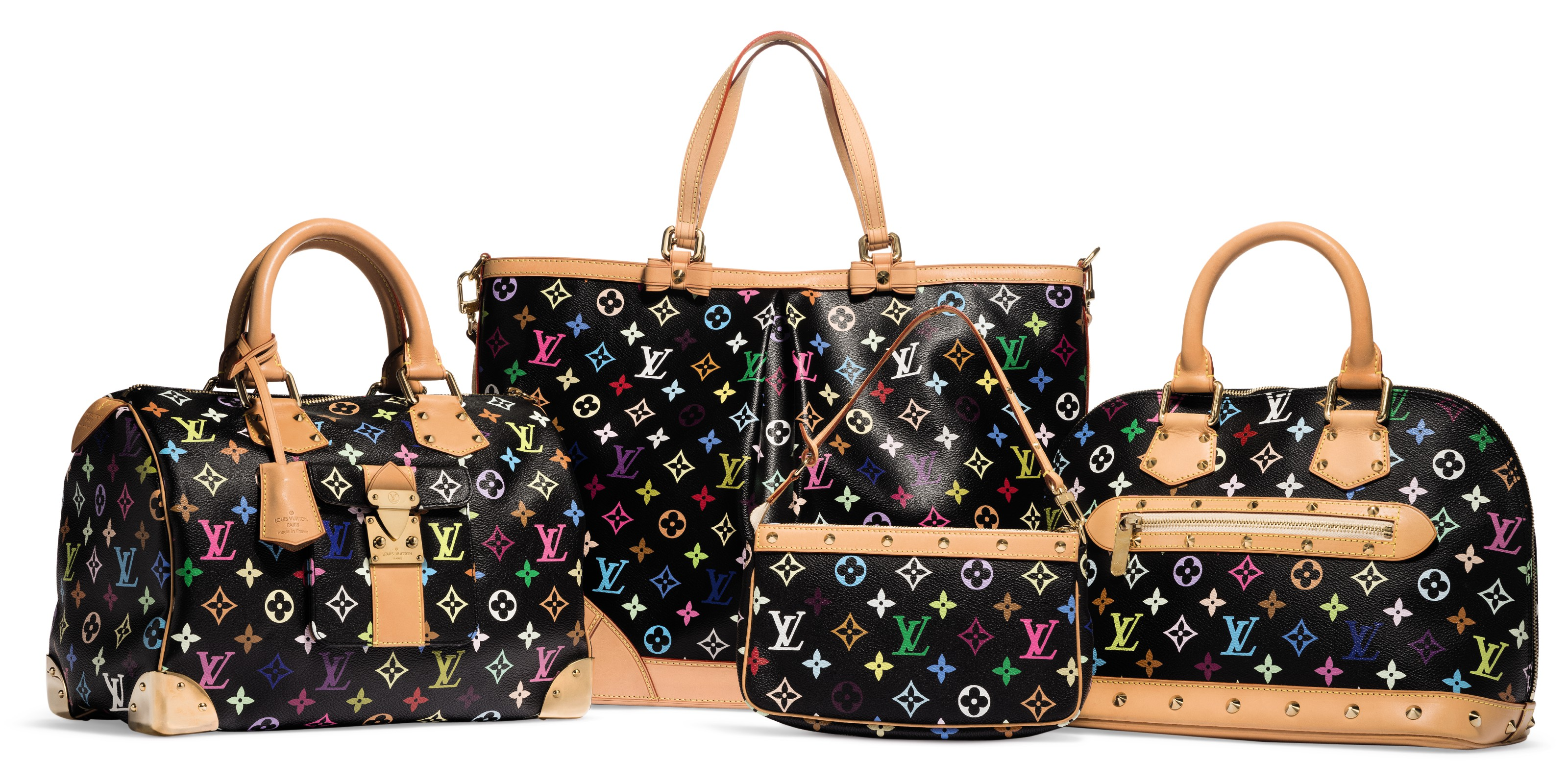 Almaemail a set of four: a limited edition black monogram multicolore