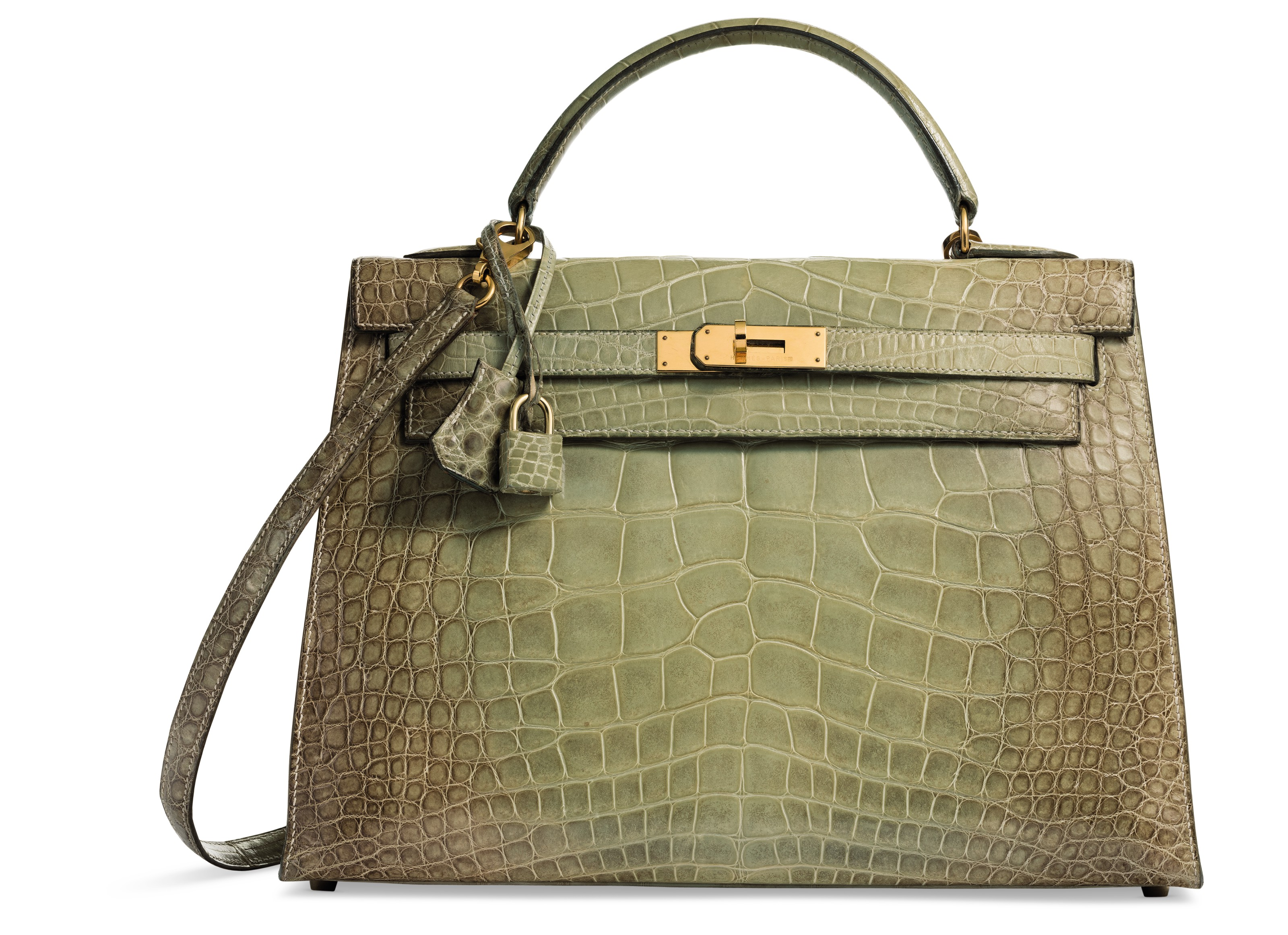 dbb49be5ff38 ... wholesale a rare shiny natura vert céladon alligator sellier kelly 32  with gold hardware hermès 10b8b low cost hermes ...
