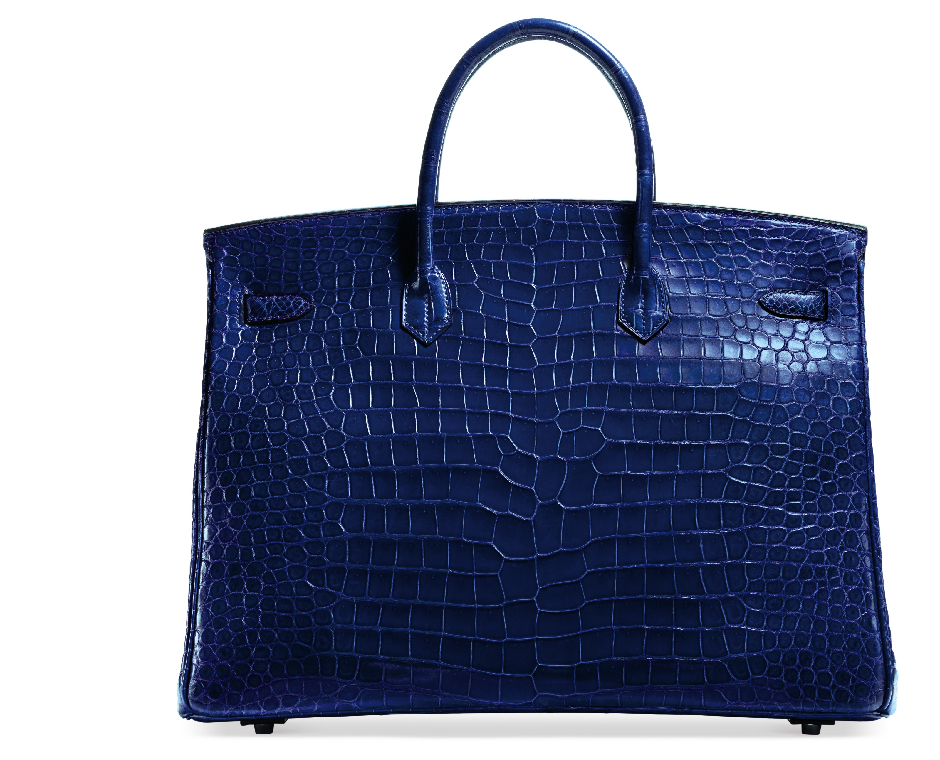 A BLEU ÉLECTRIQUE POROSUS CROCODILE BIRKIN 40 WITH PALLADIUM HARDWARE
