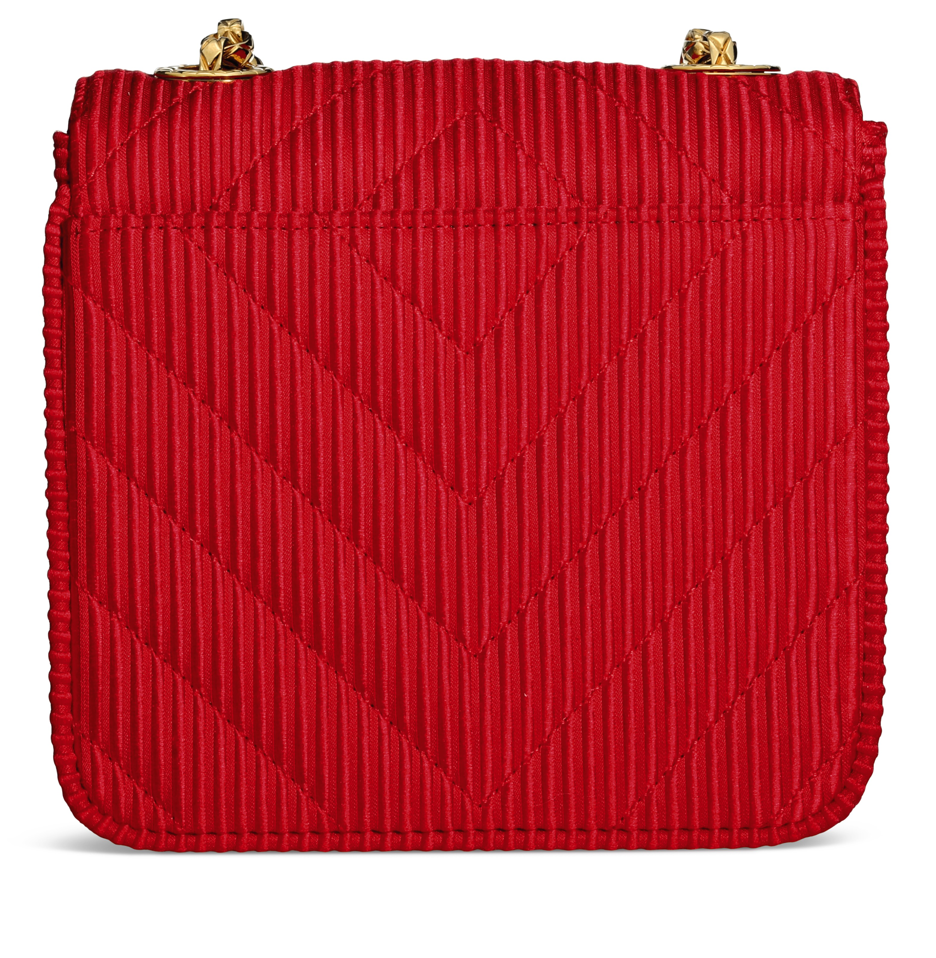 af9eeb38f1ed6f A RED SILK CHEVRON ENVELOPE MINI FLAP BAG WITH GOLD HARDWARE ...