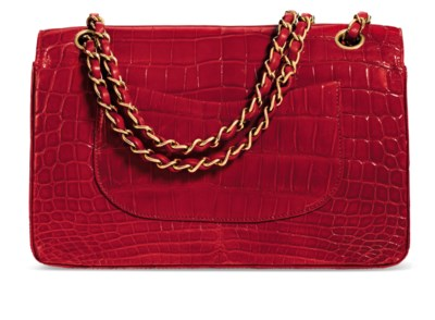 A SHINY RED ALLIGATOR CLASSIC