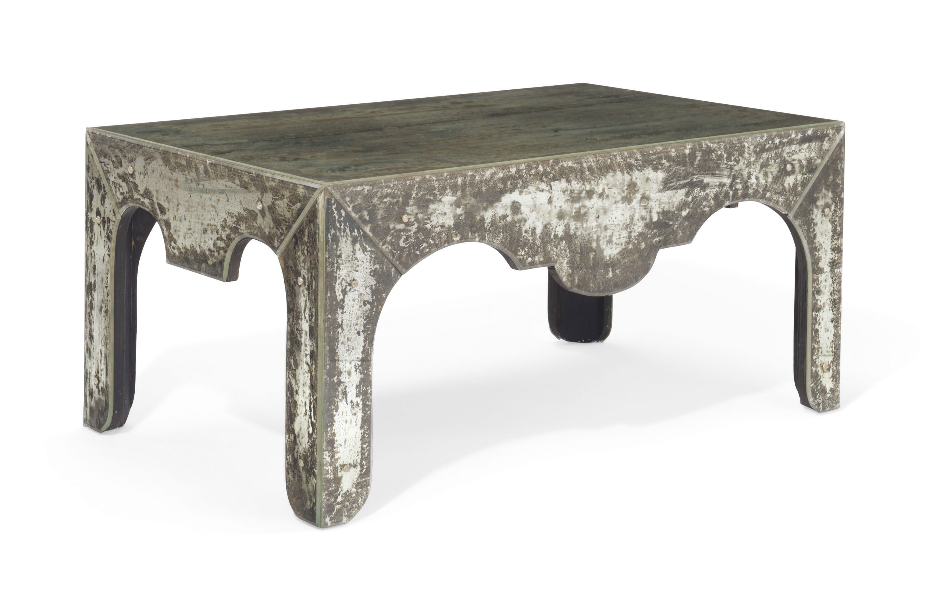 Picture of: A Distressed Mirrored Glass Coffee Table Modern Furniture Lighting Table Christie S