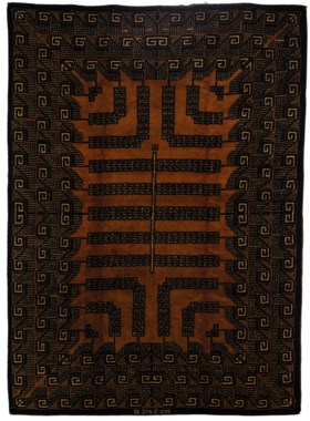 AN IVAN DA SILVA BRUHNS HAND KNOTTED WOOL CARPET