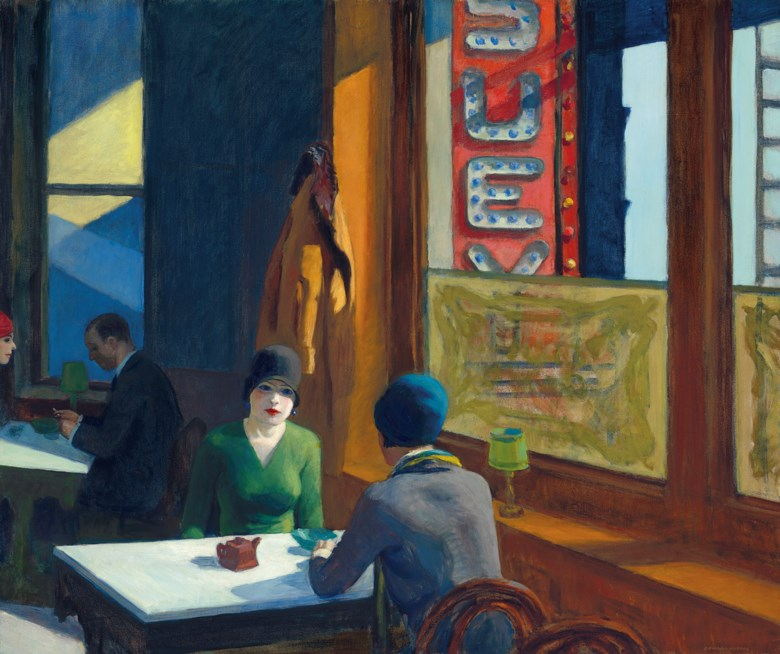 Edward Hopper (1882-1967), Chop Suey, painted in 1929. 32 x 38  in (81.3 x 96.5  cm). Sold for $91,875,000 on 13 November 2018 at Christie's in New York