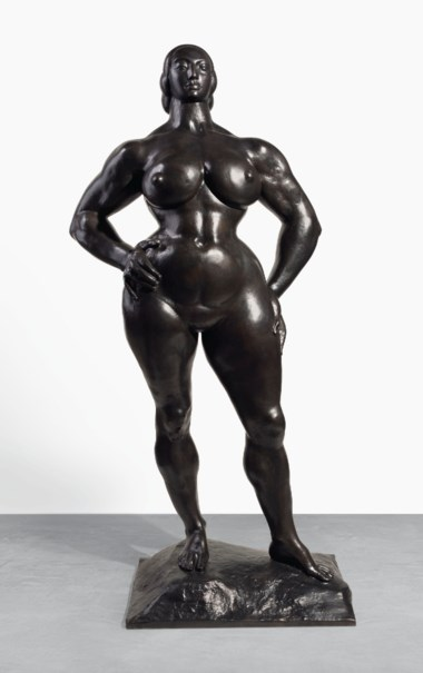 Gaston Lachaise (1882-1935), Standing Woman [LF 92], modeled in 1928-30; copyrighted in 1932; cast in 1993. Sold for $3,732,500 on 13 November 2018 at Christie's in New York