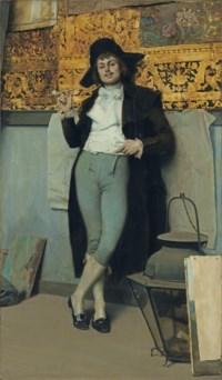 Jeune homme avec une pipe