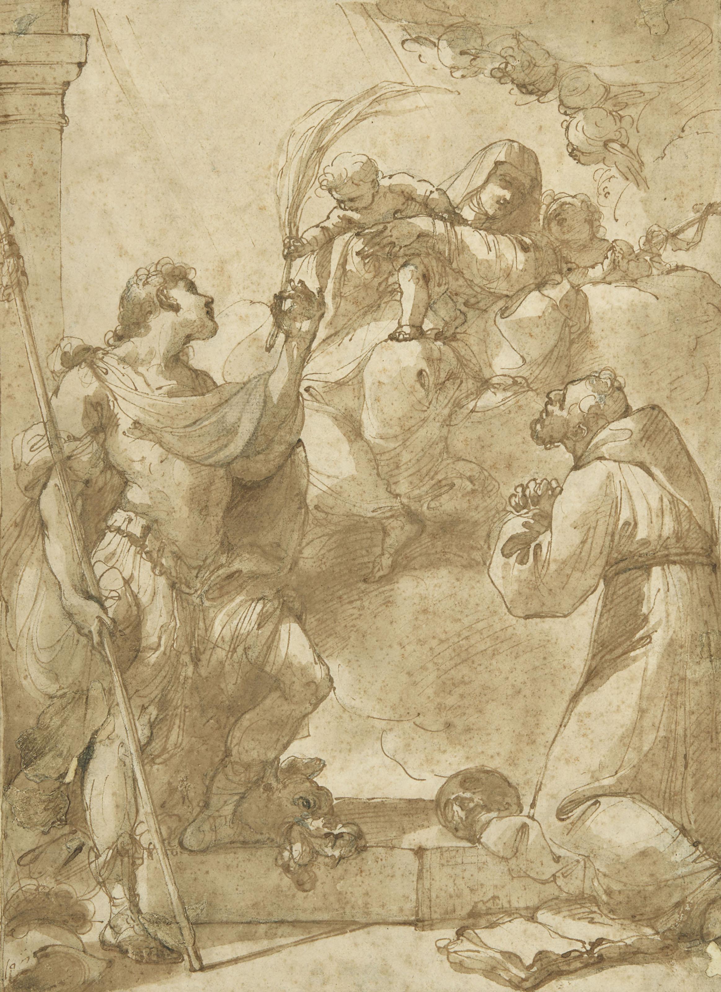 Vierge à l'Enfant avec saint Jean-Baptiste, saint Georges et saint François