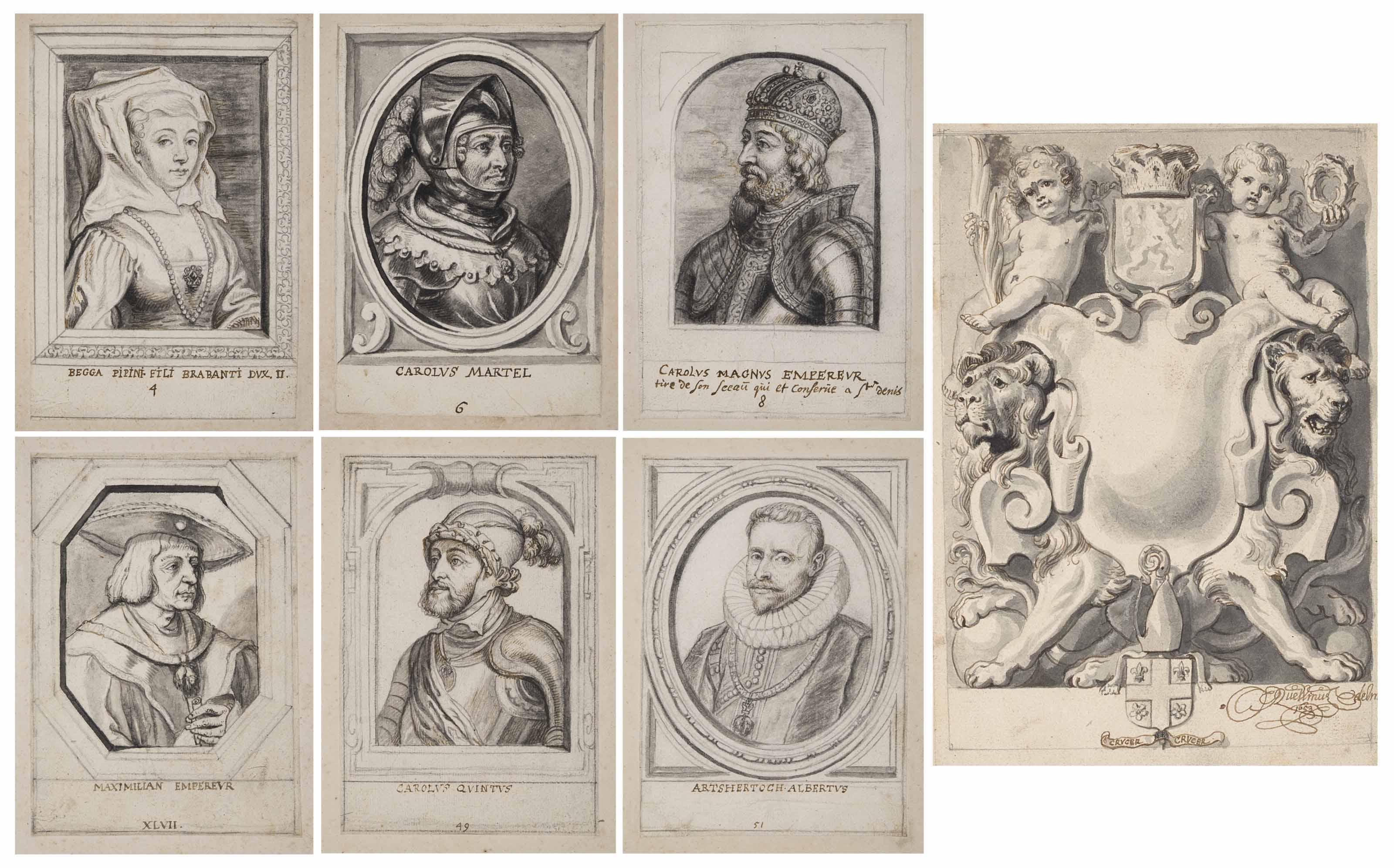 Projet de Frontispice et portraits des ducs de Brabant
