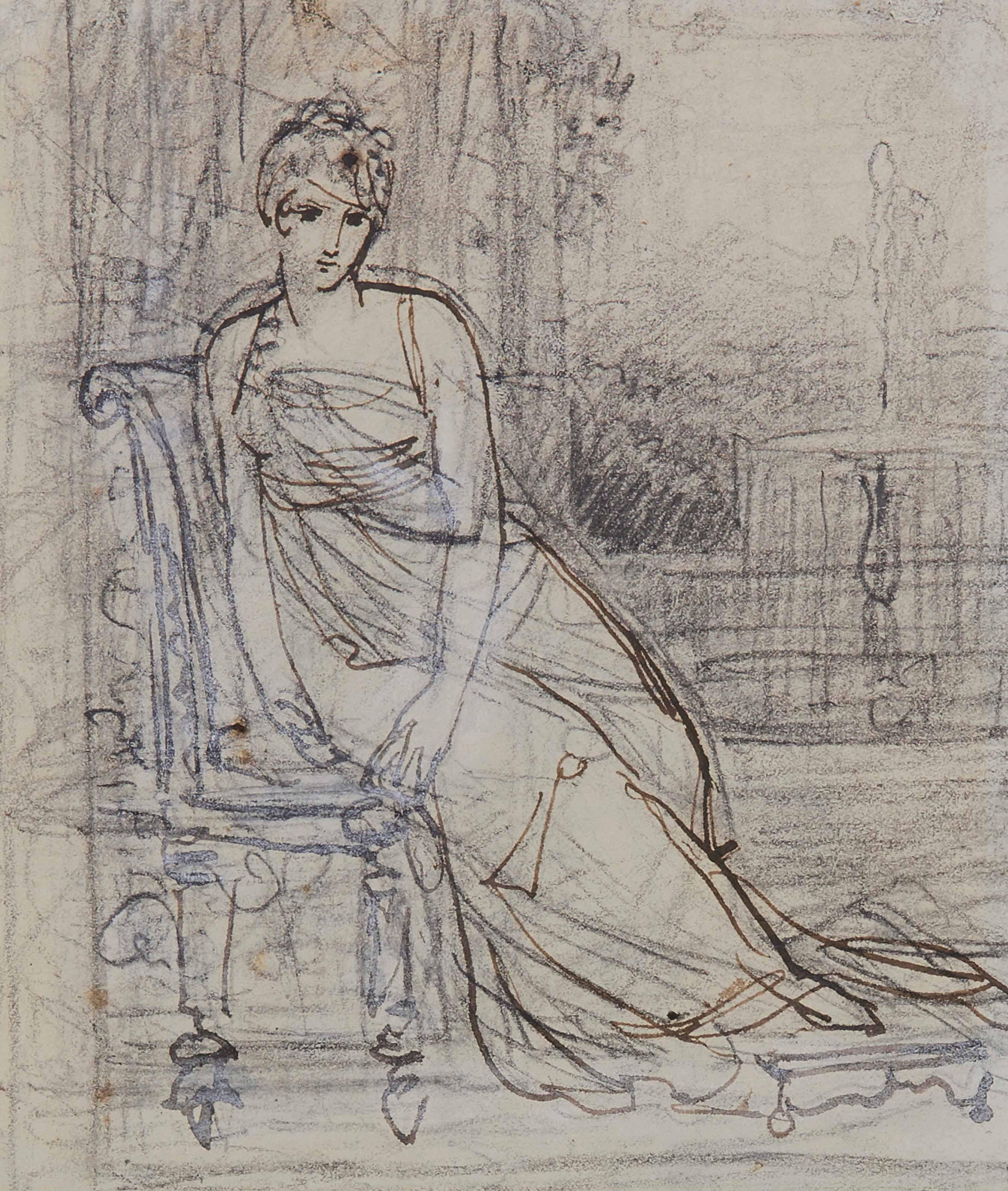 Étude pour un portrait de Juliette Récamier