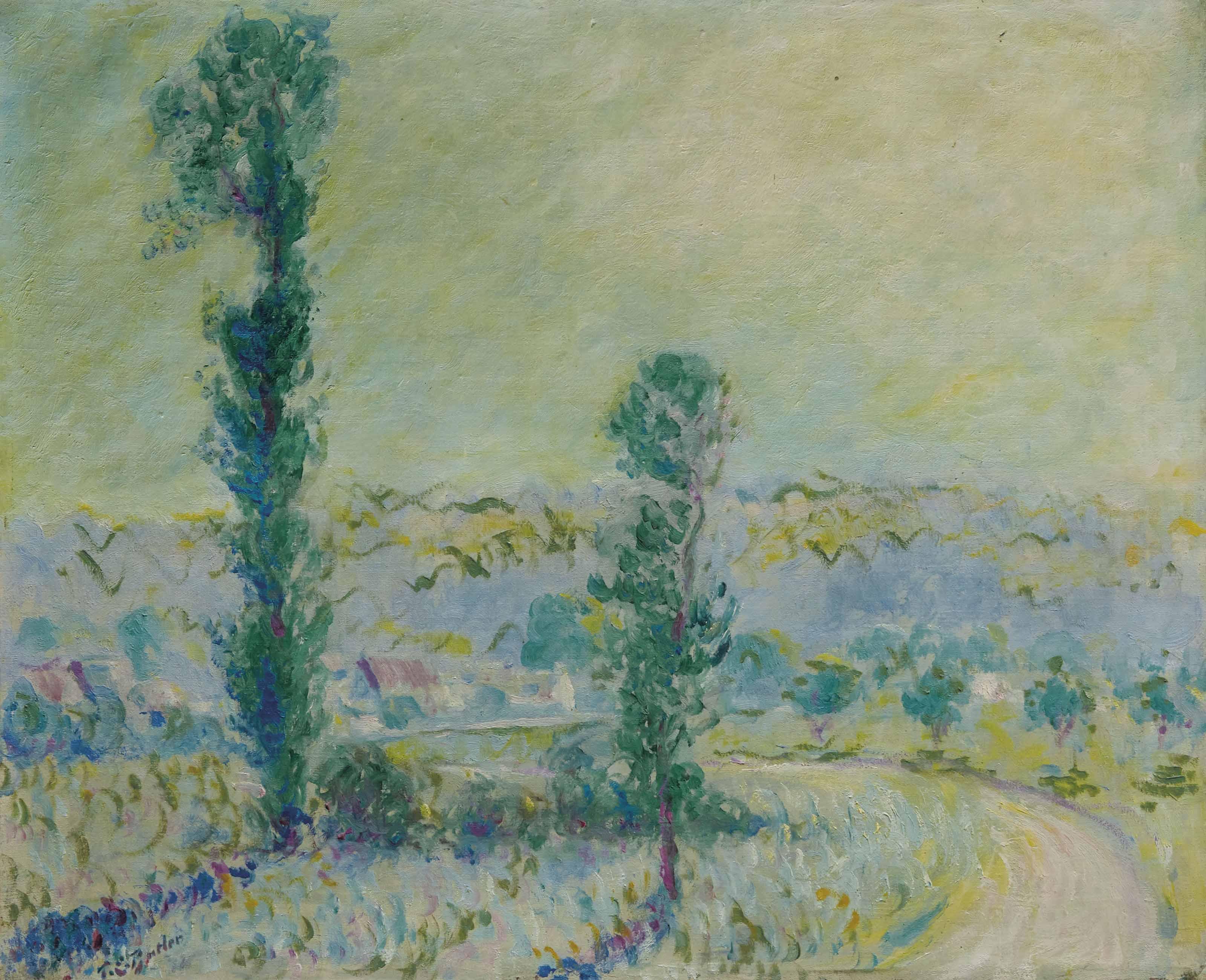 Un petit chemin à Giverny par Vernon dans l' Eure