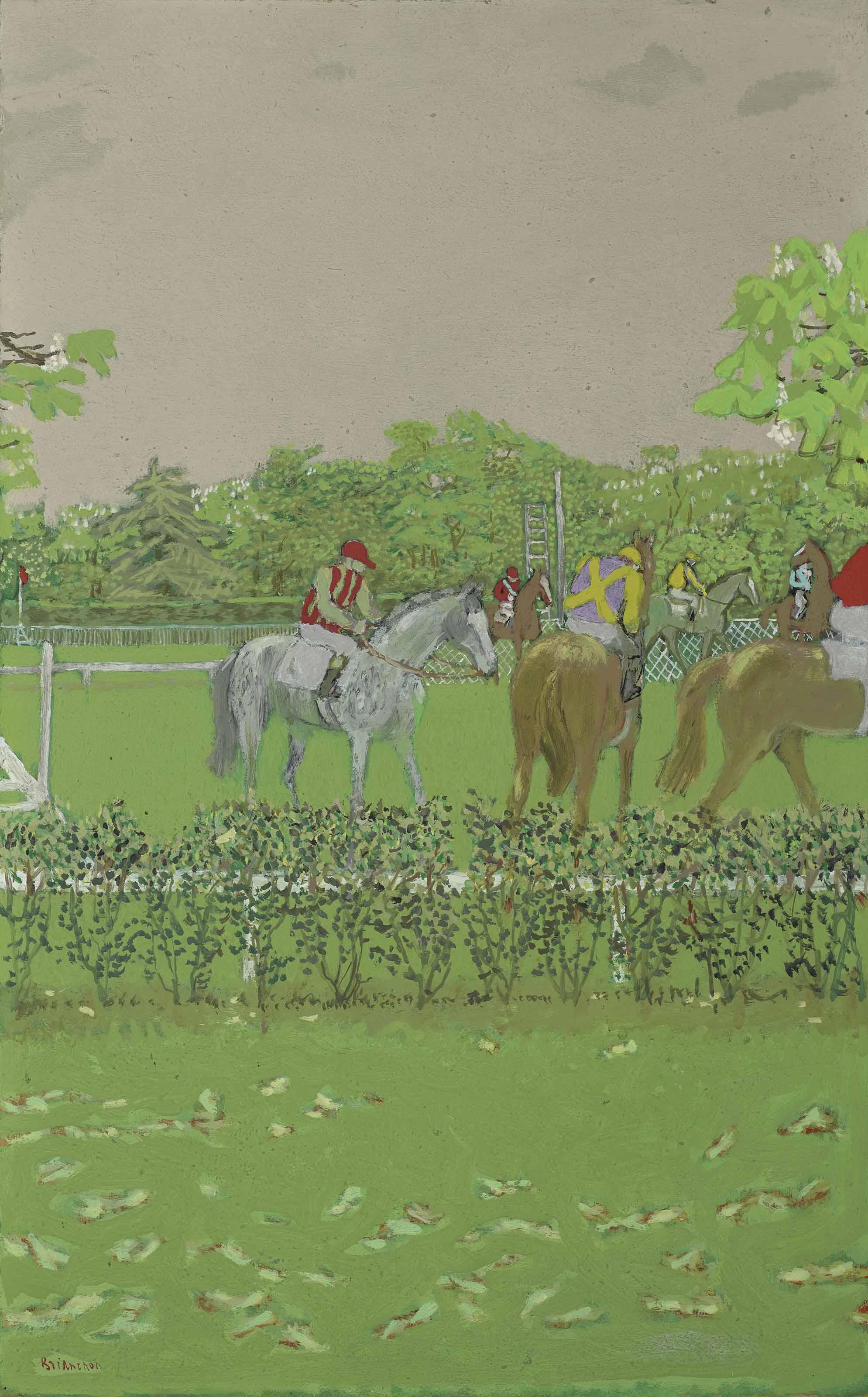 Chevaux et jockeys
