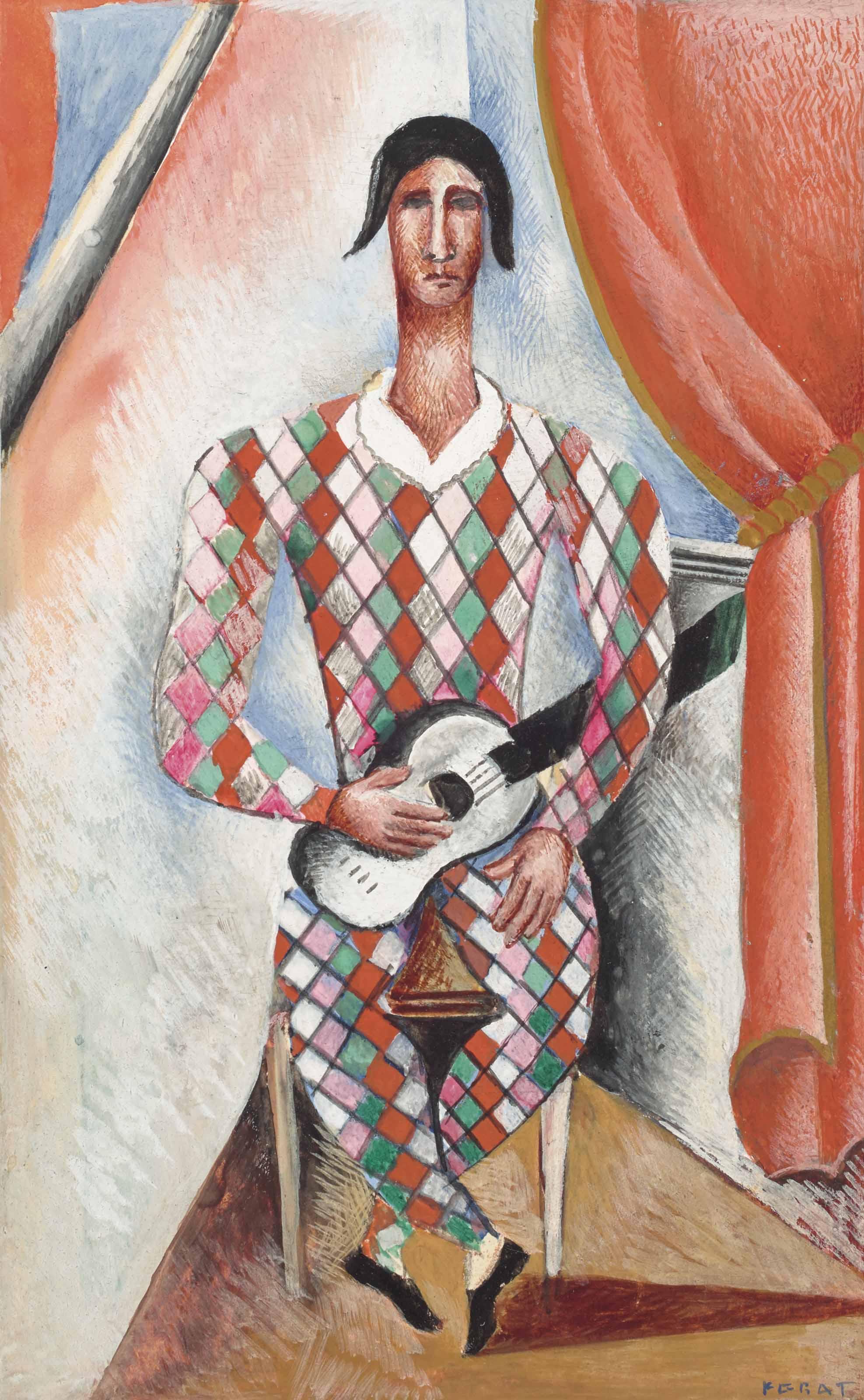 Arlequin à la guitare