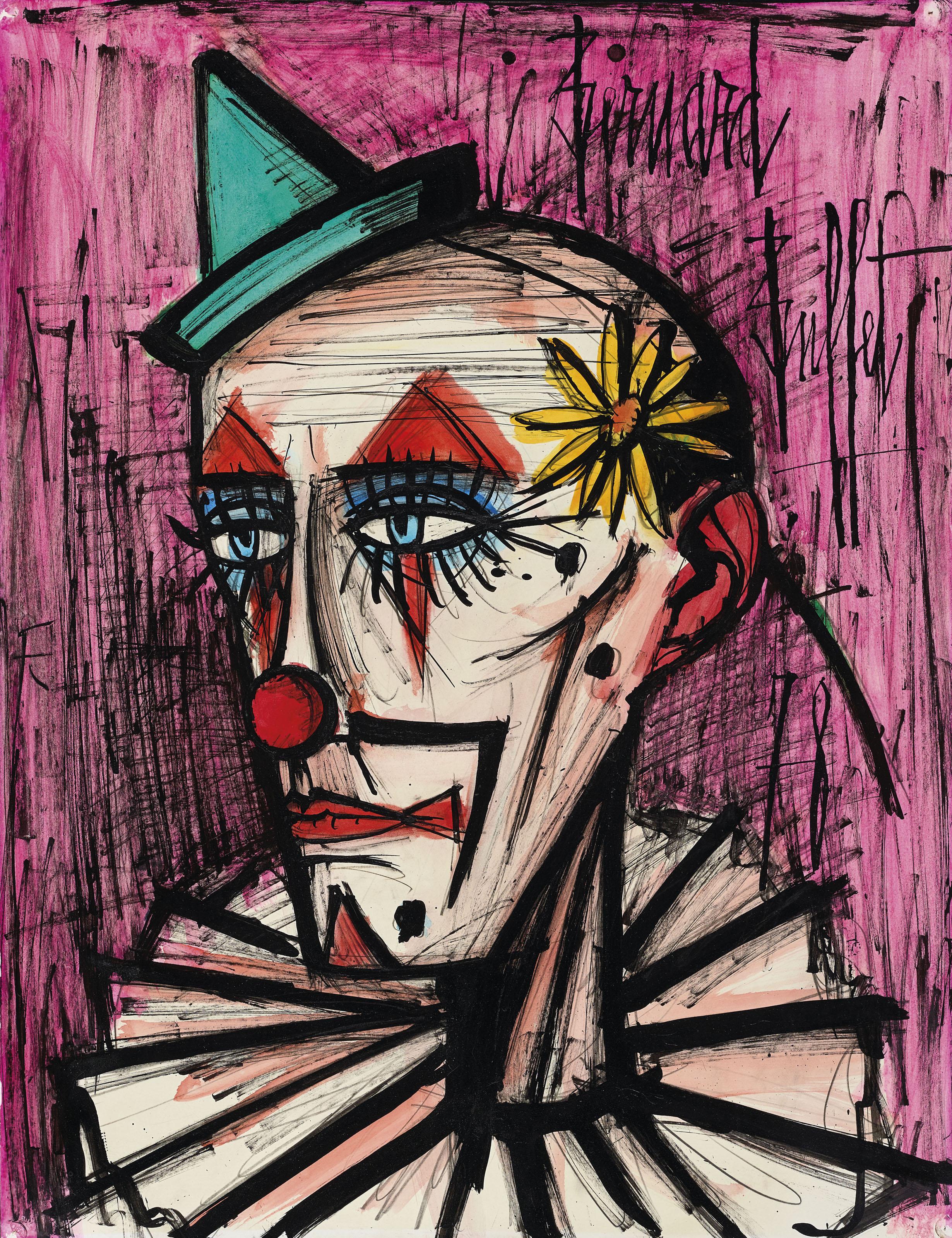 Cool Bernard Buffet 1928 1999 Clown A La Marguerite Beutiful Home Inspiration Truamahrainfo