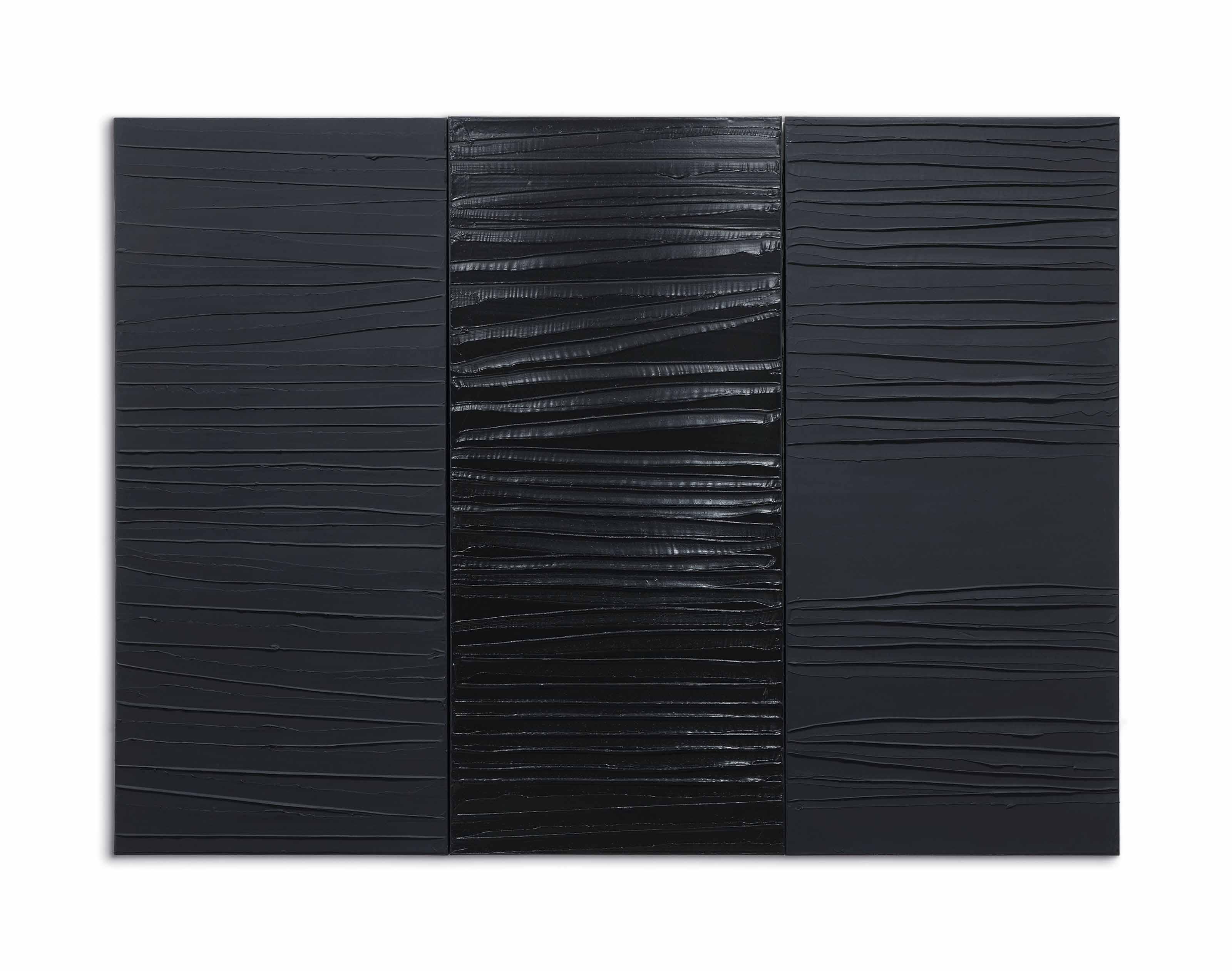 Pierre Soulages Né En 1919 Peinture 227 X 306 Cm 2 Mars 2009