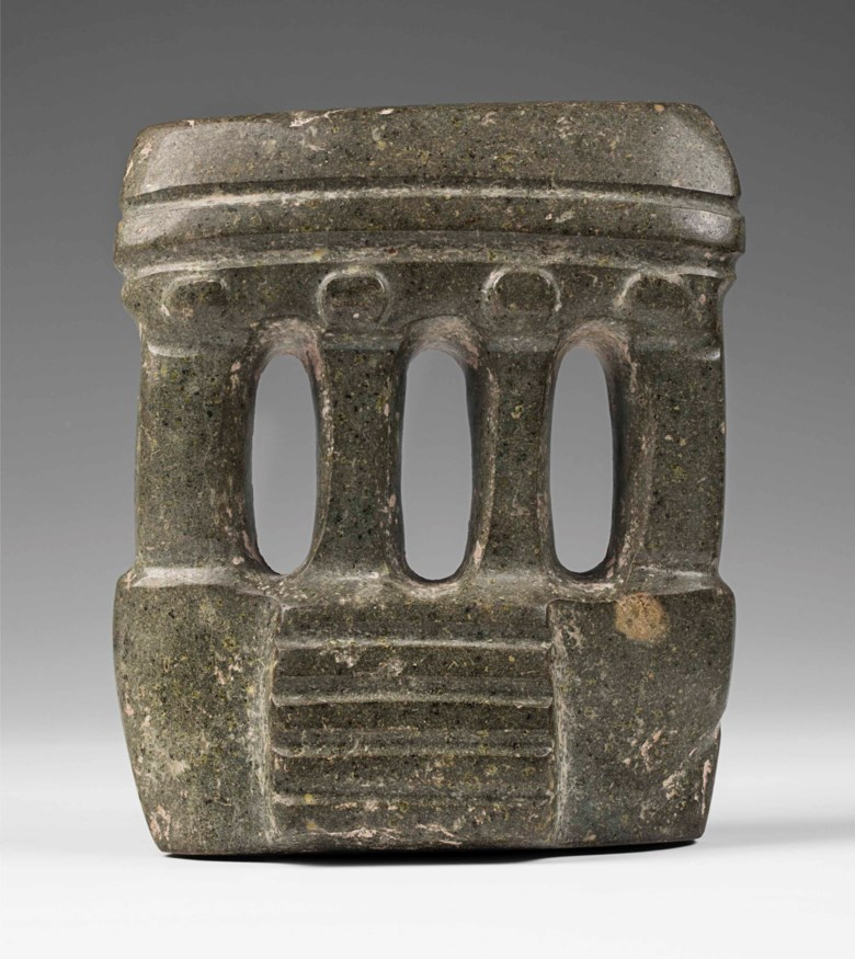 Mezcala temple, circa 300-100 BC. 18  cm high (7  in). Estimate €30,000-50,000. This lot is offered in A Quantum of History The Prigogine Collection on 9 April 2018  at Christie's in Paris