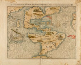 MÜNSTER, Sebastian (1488-1552) Tabula novarum insularum, qua