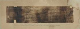 [CHAMPOLLION, Jean François (1790-1832)] Manuscrit: papyrus