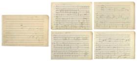 DEBUSSY, Achille-Claude (1862-1918) Manuscrit musical autogr