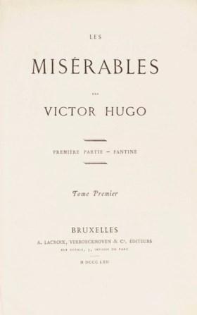 HUGO, Victor (1802-1885) Les Misérables Bruxelles: Lacroix,