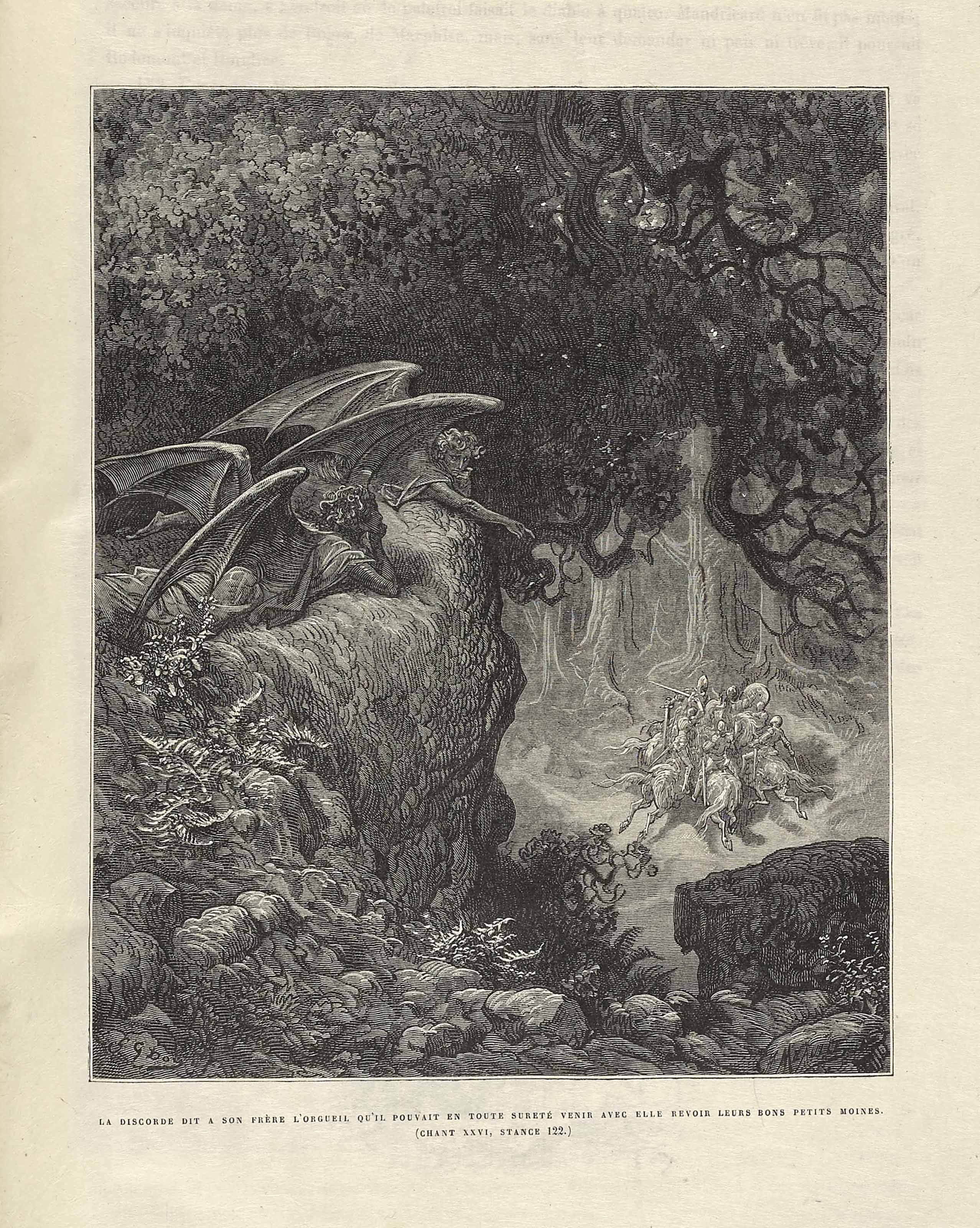 [DORE, Gustave (1832 – 1883)] – ARIOSTO, Ludovico (1474 – 1533). Roland furieux. Paris : Hachette et Cie, 1879.
